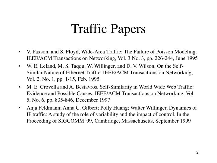 Traffic papers