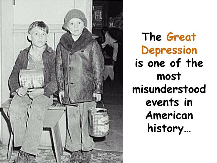 demystifying popular misunderstandings about the great depression in american history