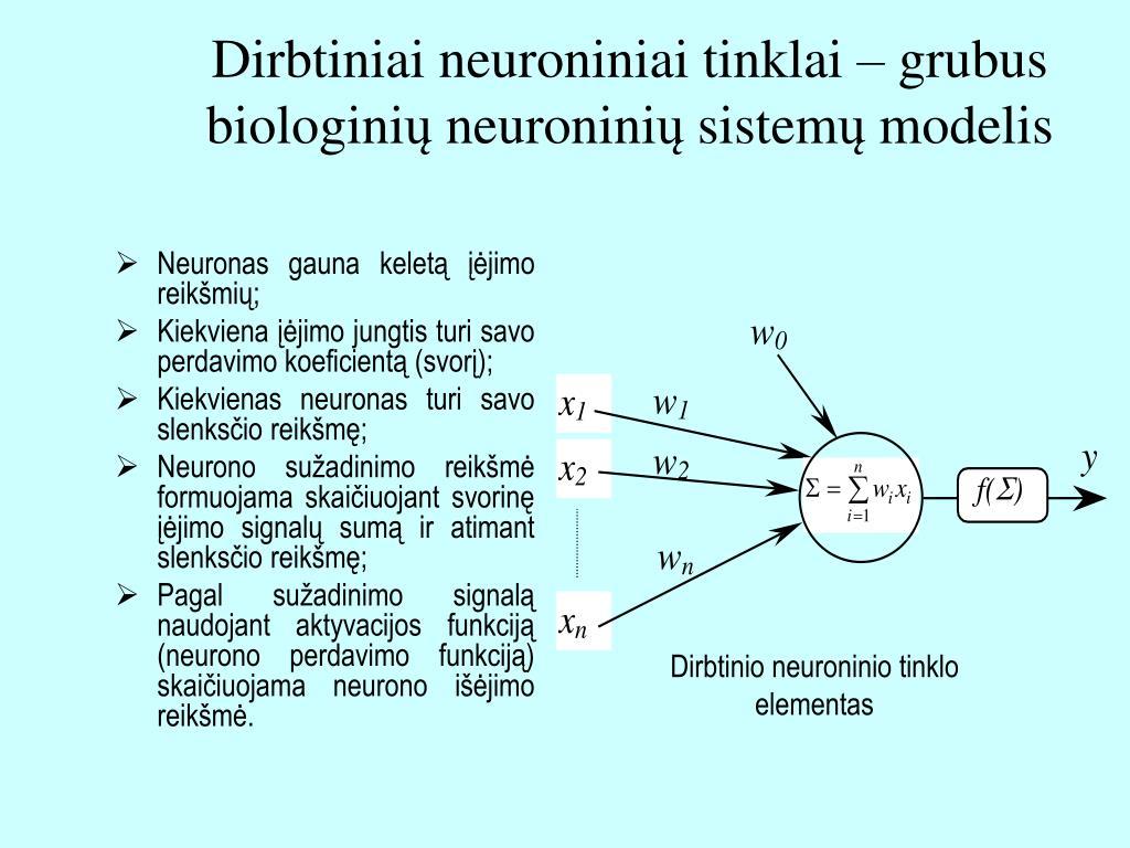 dirbtiniai neuron tinklai finans ir gamybos srityse)