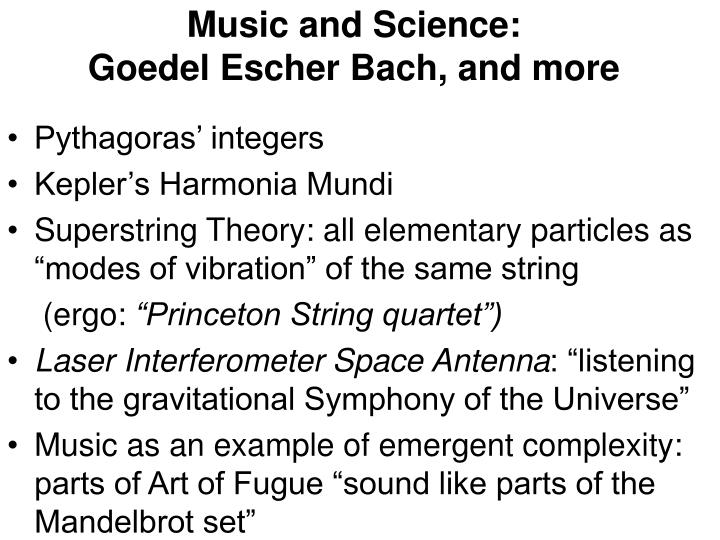 Music and Science: