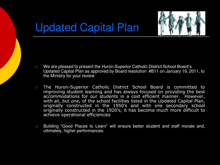 Updated capital plan