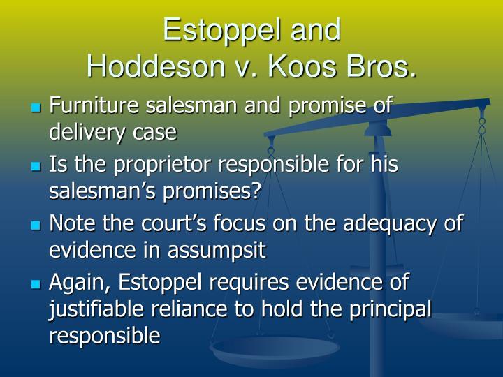 Estoppel and