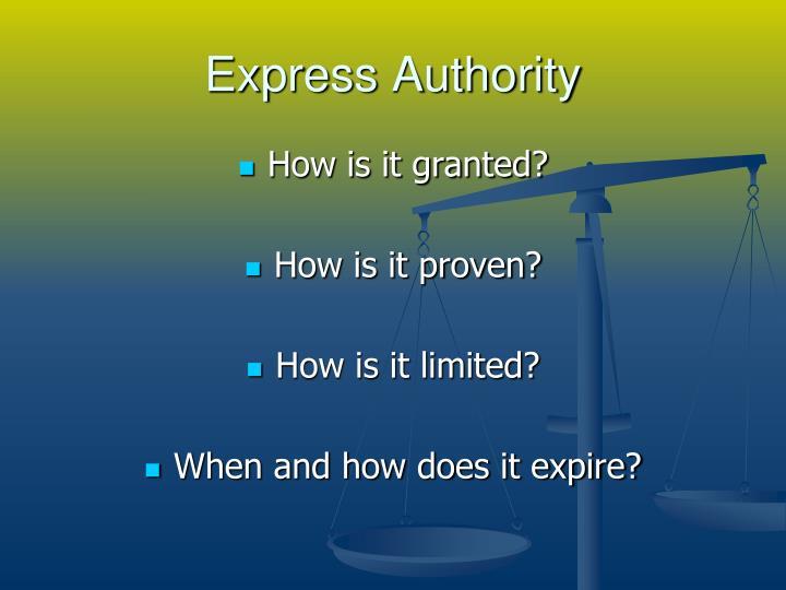 Express Authority