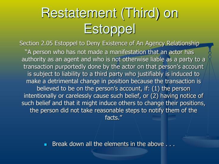 Restatement (Third) on Estoppel