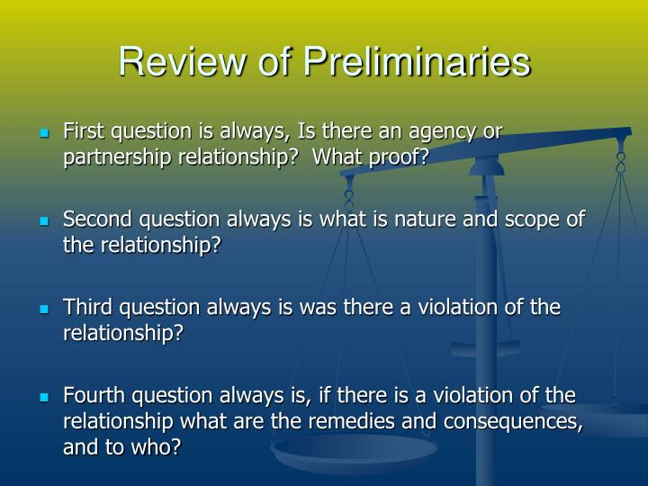 Review of preliminaries