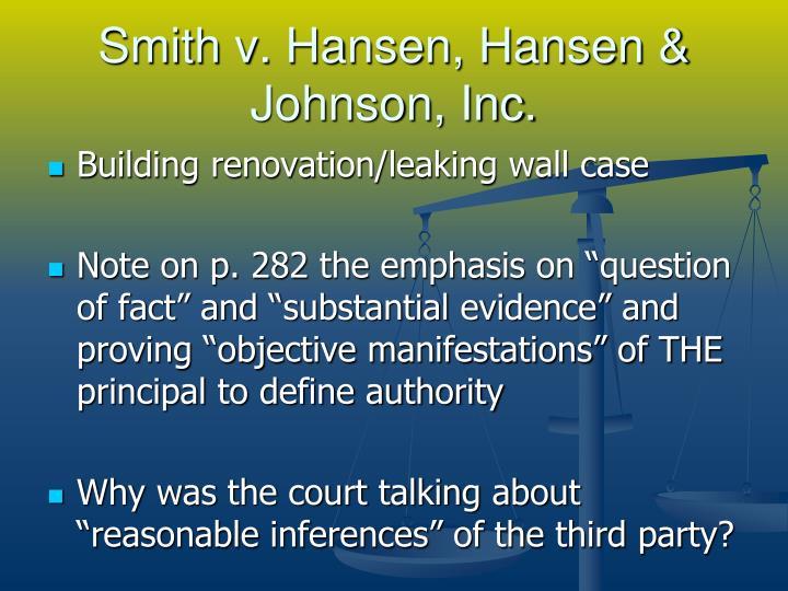 Smith v. Hansen, Hansen & Johnson, Inc.