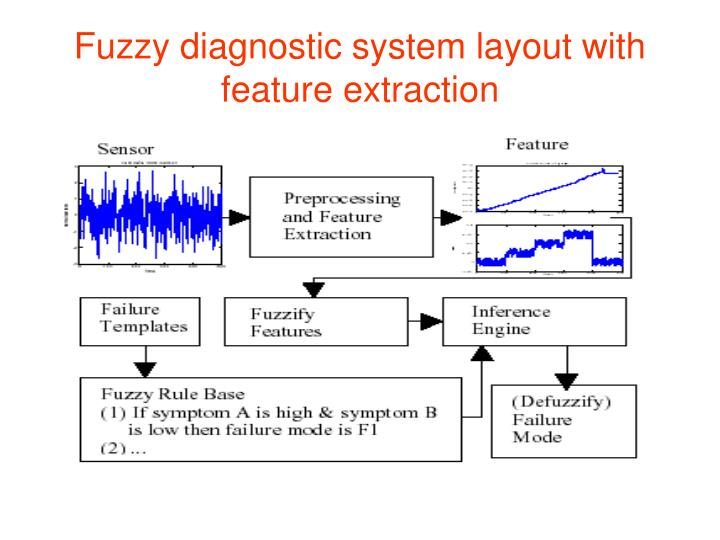 Fuzzy diagnostic system layout with feature extraction