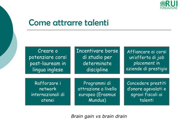 Come attrarre talenti