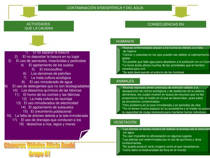CONTAMINACIÓN ATMOSFÉRICA Y DEL AGUA