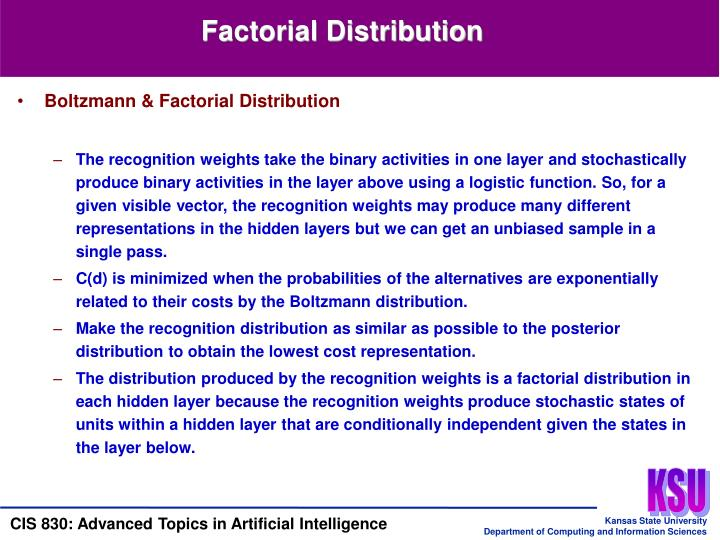 Factorial Distribution