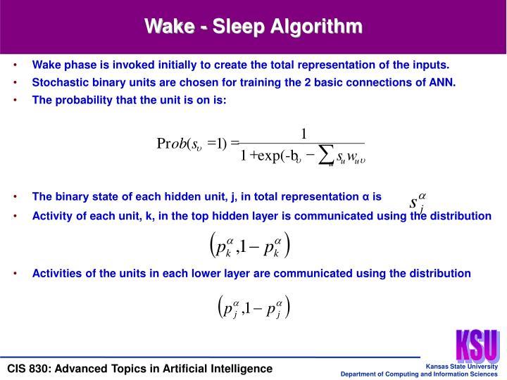 Wake - Sleep Algorithm
