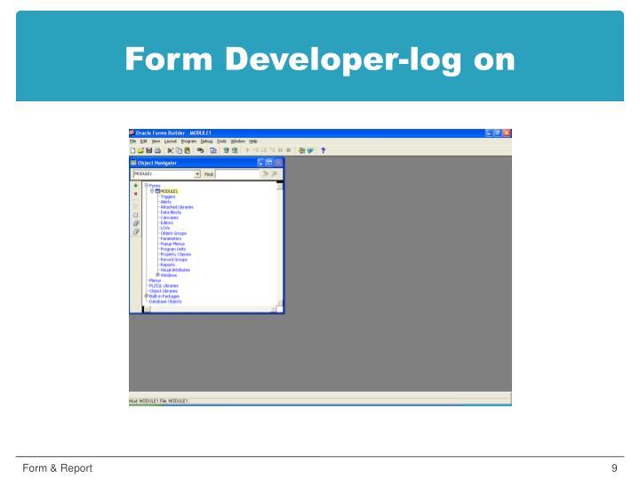 Form Developer-log on