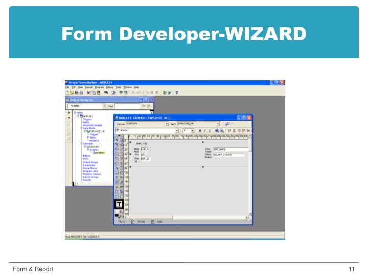 Form Developer-WIZARD