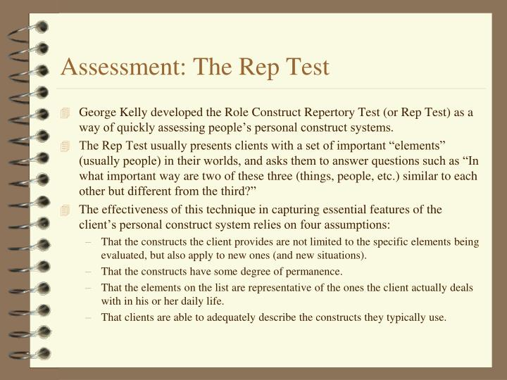 Assessment: The Rep Test