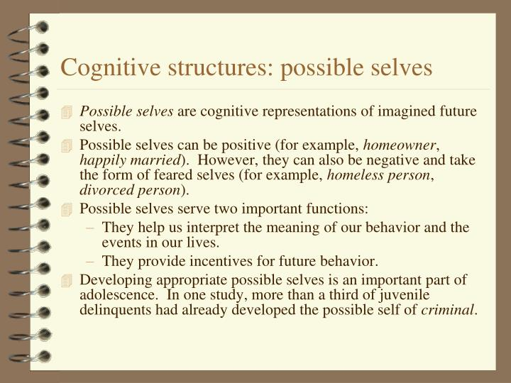 Cognitive structures: possible selves