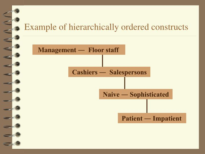 Example of hierarchically ordered constructs