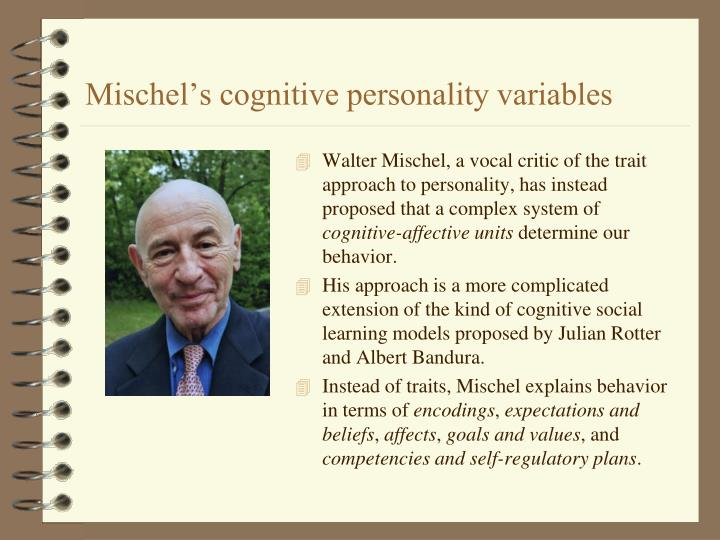 Mischel's cognitive personality variables