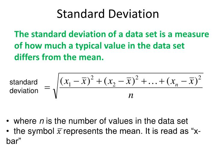 Standard Deviation