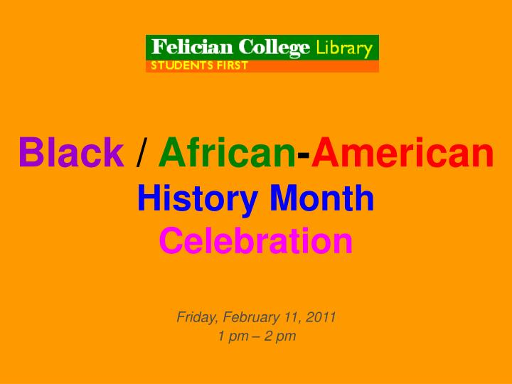 Black african american history month celebration