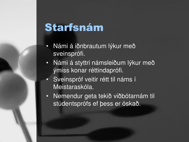 Starfsnám