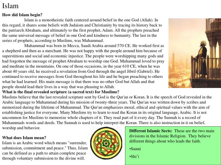an analysis of the belief of oneness of god in islam Summary name: course: tutor: date: an overall analysis of various aspects of islam introduction islam, one of the monotheistic religions of the world, crucially pivots on the oneness of god or allah.