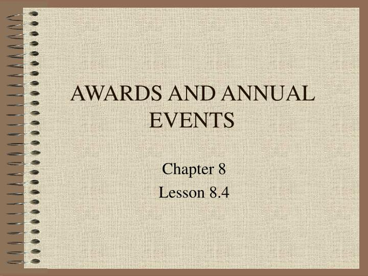 awards and annual events n.
