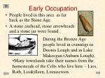 early occupation