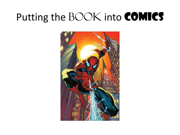 putting the book into comics n.