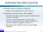 animate the grid cont d