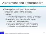 assessment and retrospective