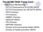 the acsm task force cont