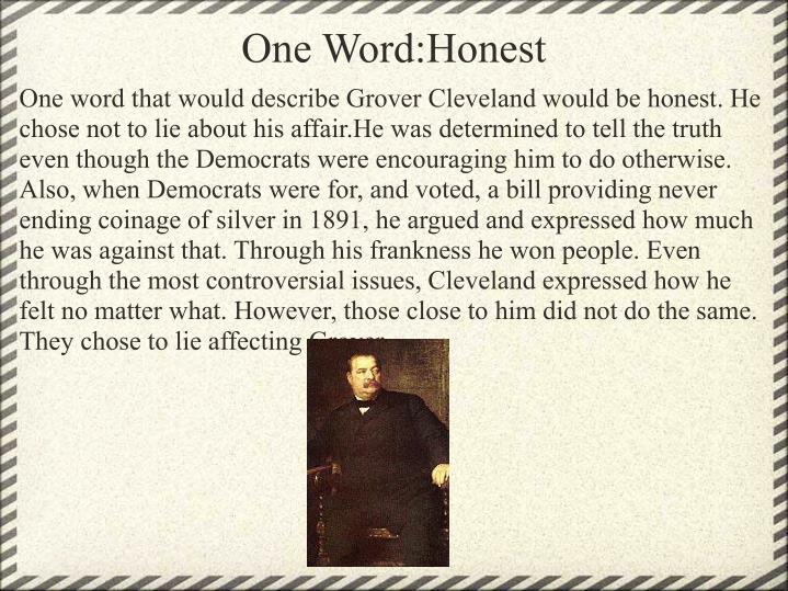 One Word:Honest