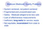 medicare medicaid quality problems