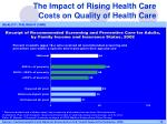 the impact of rising health care costs on quality of health care