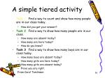 a simple tiered activity grade k counting skill