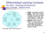 differentiated learning contracts key skills graphing and measuring key concepts relative sizes