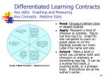 differentiated learning contracts key skills graphing and measuring key concepts relative sizes2