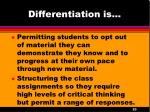 differentiation is2