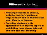 differentiation is3