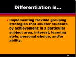 differentiation is4