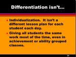 differentiation isn t