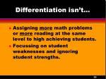 differentiation isn t1