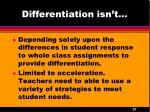 differentiation isn t3