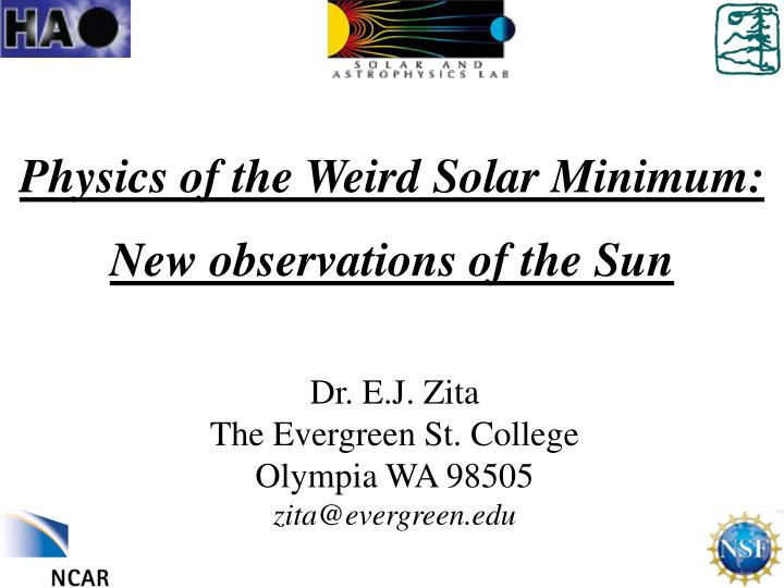 Physics of the weird solar minimum new observations of the sun