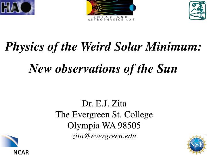 Physics of the Weird Solar Minimum: