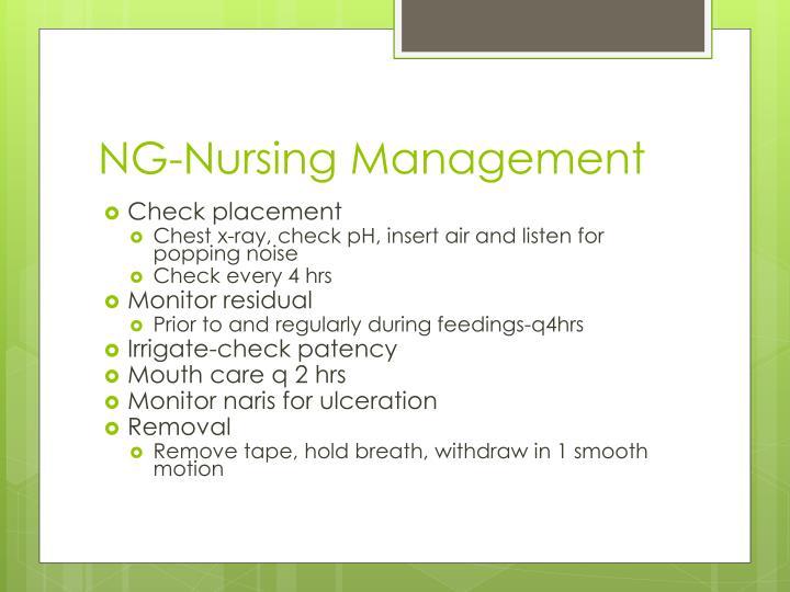 NG-Nursing Management
