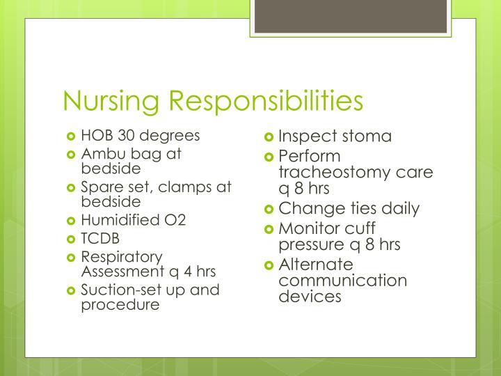 Nursing Responsibilities