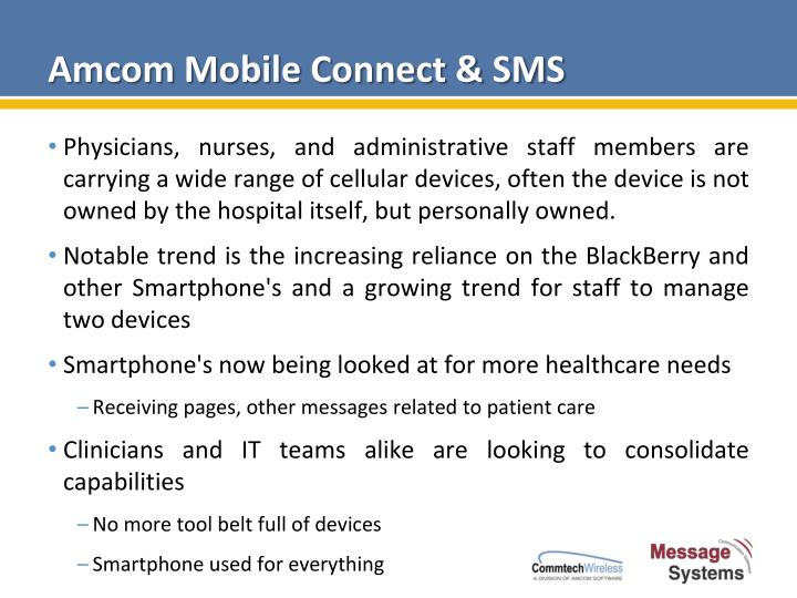 Amcom mobile connect sms1