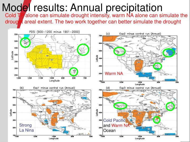 Model results: Annual precipitation