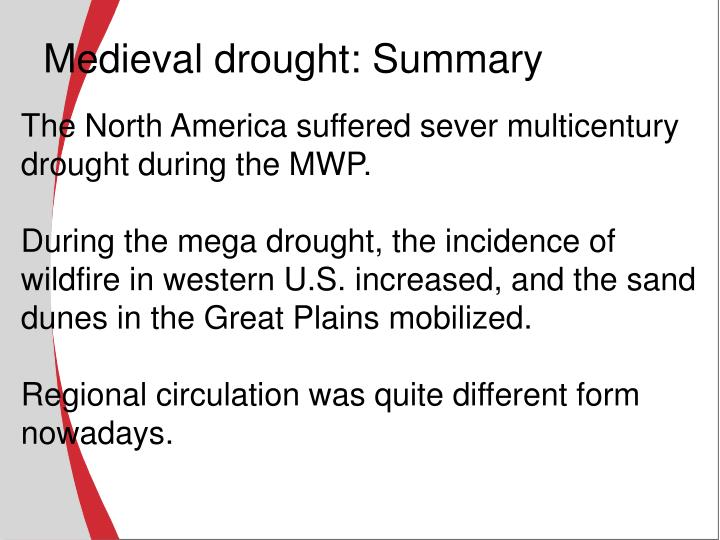 Medieval drought: Summary